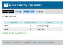 Ajax Availability Calendar