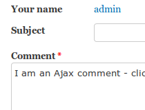 AJAX Comments