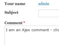 AJAX Comments