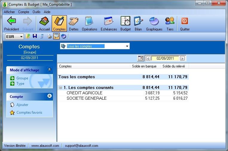 AlauxSoft Accounts and Budget