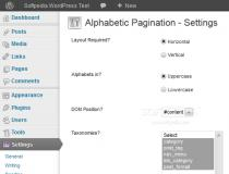 Alphabetic Pagination