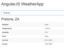 AngularJS WeatherApp