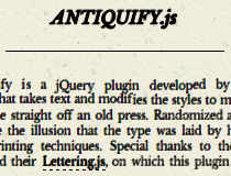 Antiquify.js