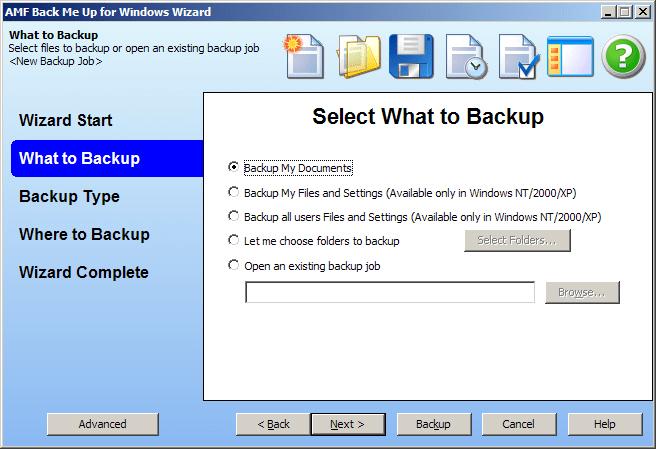Back Me Up Backup Software