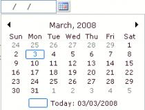 Calendar & Date/Time Picker for ASP.NET