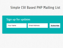 CSV Based PHP Mailing List