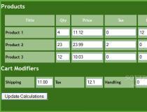 DevKen Cart Calculator Class