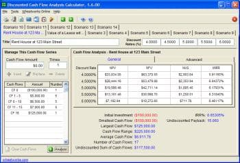 Discounted Cash Flow Analysis Calculator