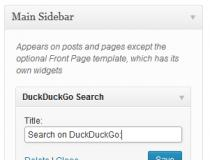 DuckDuckGo Search Widget