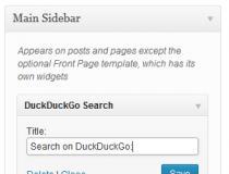 DuckDuckGo Search Widget