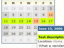 Easy PHP Calendar