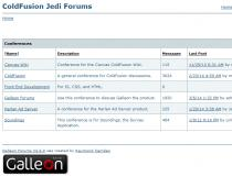 Galleon ColdFusion Forums