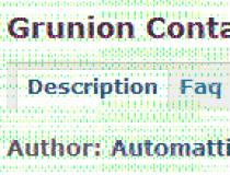 Grunion Contact Form