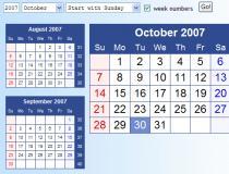 HTML-Calendar (Perl)