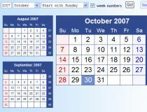 HTML-Calendar (PHP)