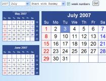 HTML-Calendar (Python)