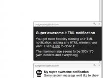 HTML5 Web Notifications