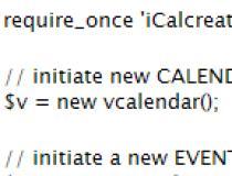 iCalcreator