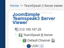 JoomSimple Teamspeak 3 Server Viewer