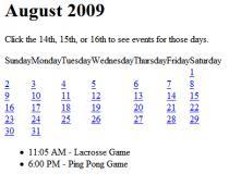 jQuery Calendar