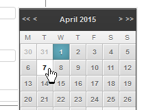 jQuery date picker