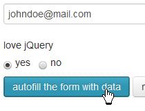 jQuery form autofill
