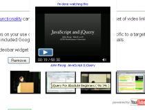 jQuery Google Search Videobar