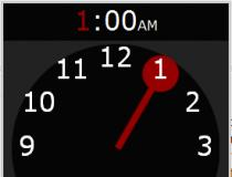 jQuery KitKat Clock