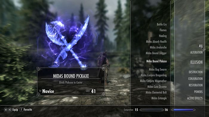Midas Magic - Spells in Skyrim