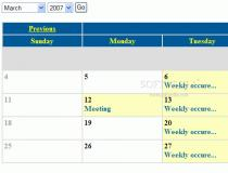 Monthly Calendar With Reoccurring Events