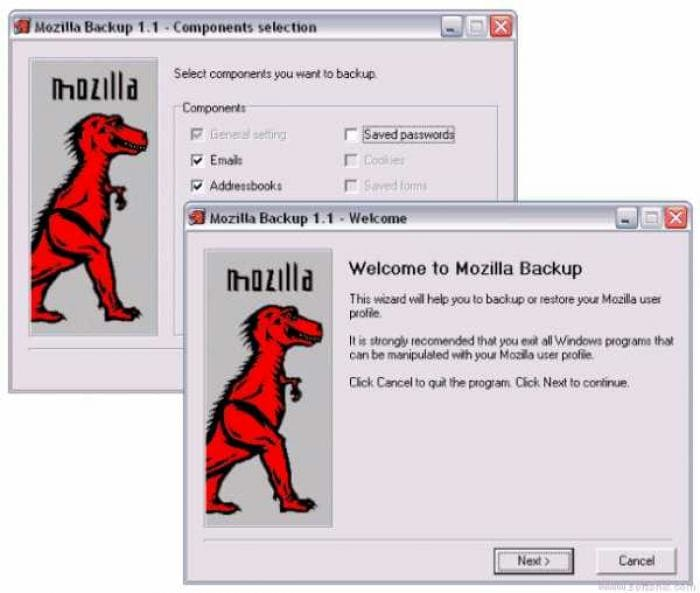 Mozilla Backup