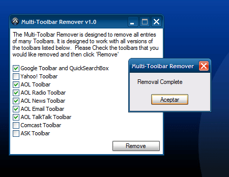 Multi-Toolbar Remover