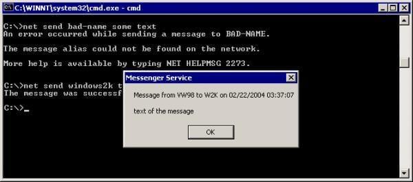 Net-Send command