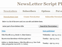 NewsLetter Script PHP
