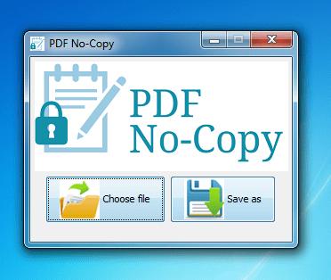 PDF NoCopy for Desktop
