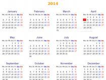 PHP Annual Calendar