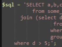 PHP SQL Parser