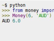 python-money