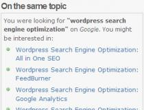 Search Engine Query in Wordpress