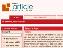 Softbiz Article Directory Script