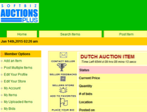 Softbiz Auctions PLUS Script