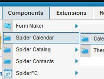 Spider Calendar (Joomla)