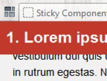 Sticky JS