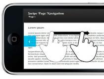 Swipe Page Navigation