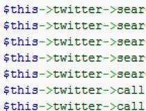 Twitter API CodeIgniter Library