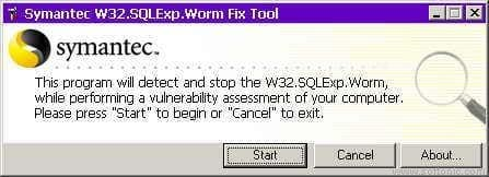 W32.SQLExp.Worm Removal Tool
