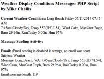 Weather Display Conditions Messenger PHP Script