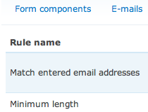 Webform Validation