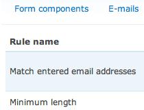 Webform Validation