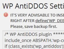 WP AntiDDOS